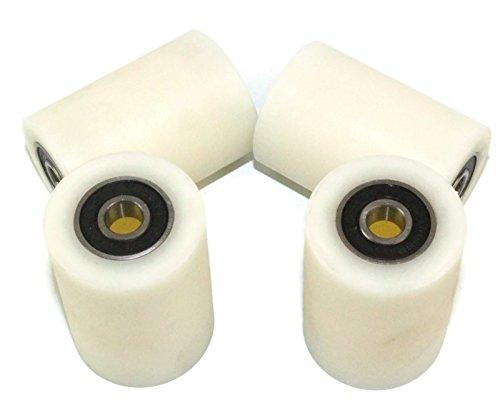 Stück 4x 35mm Durchmesser, bearbeitet Nylon Rollen verschiedene Breiten Made in der EU, 50 mm Wide, 4