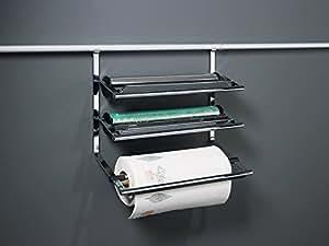 kesseb hmer linero 2000 rail de rangement de cuisine et accessoires m tal support rouleaux 3. Black Bedroom Furniture Sets. Home Design Ideas