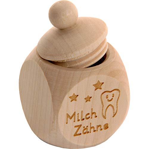Spruchreif PREMIUM QUALITÄT 100{eebdf64d32b54266dc784b894b3a0bd6f98acc97e3f6ee5bcc12a18c4516eca2} EMOTIONAL · Milchzahndose aus Holz mit Schraubdeckel und Gravur · Kinder Zahndose für Milchzähne zur Aufbewahrung  perfekt als kleines Geschenk · Zahnfee