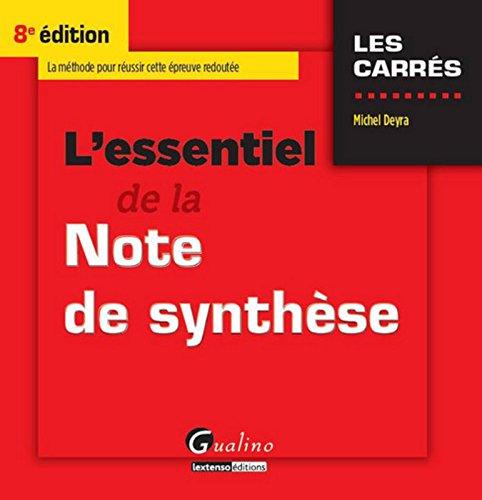 L'Essentiel de la note de synthèse ...