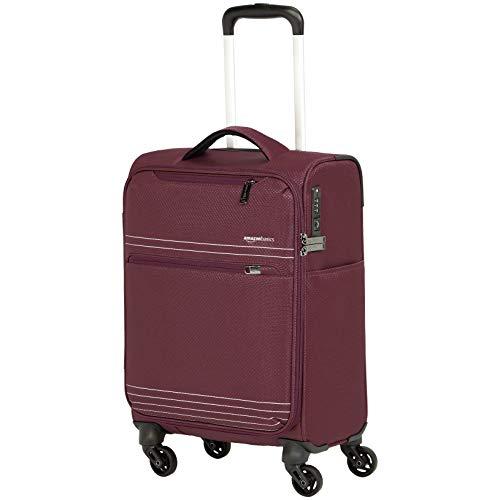 AmazonBasics - Trolley da viaggio morbido e leggero, 56 cm, Rosso