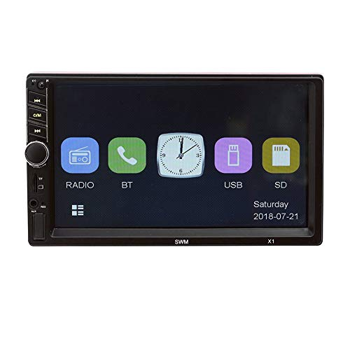 XMAGG® Auto Video Stereo, 12V 7 Zoll Autoradio Bluetooth Screen, Auto Radio MP5 Player Unterstützung FM Android Telefon Spiegel Link