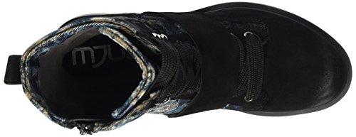 Mjus Damen 544234-0103 Combat Boots Mehrfarbig (Nero/Space)