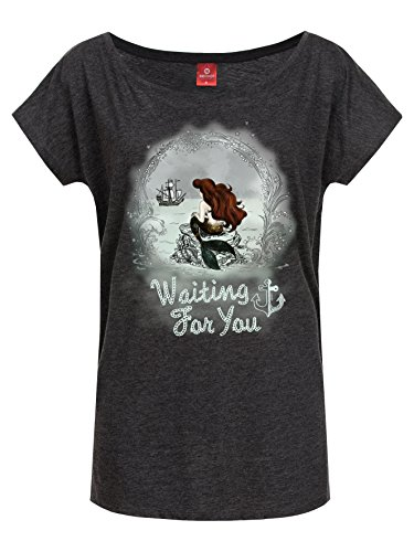 The Little Mermaid Waiting For You Maglia donna grigio scuro XL
