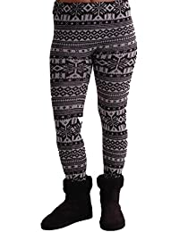 EyeCatchClothing - Frauen-Nordic-Stil warmen Stretch stricken Damen Leggings One Size
