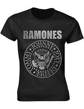 Ladies The Ramones Seal Punk Rock Heavy Metal oficial Camiseta mujeres señoras