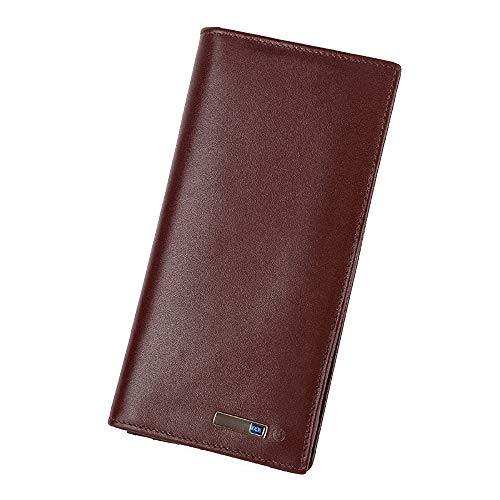 ZNMY Smart Anti-Lost Wallet Lange Echtleder-Bifold-Clutch-Tasche mit Alarm, Bluetooth, Positionsrekord (über Telefon GPS) Telefon-system-software