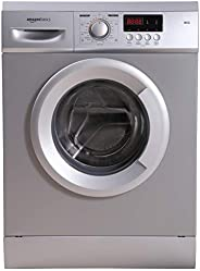AmazonBasics 6 kg Fully-Automatic Front Load Washing Machine (Grey/Silver, In-built Heater, Self cleaning tech