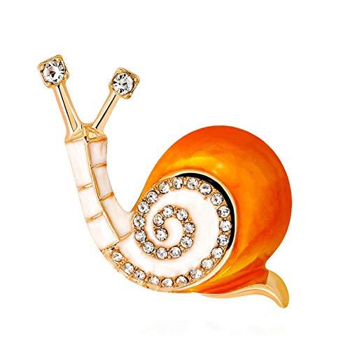 Brosche, Schnecke Orange Schön Zubehör Retro Geschenke Braut Auf Bankette Prom Hochzeiten Dekor Elegante Vintage Schmuck Für Männer Mädchen Kleidung Schal