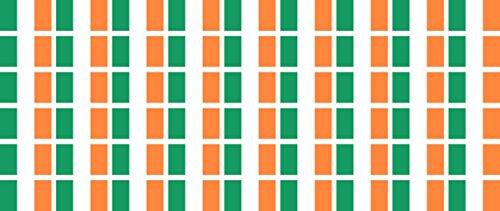 Pack glatt - 20x12mm - selbstklebender Sticker - Fahne - Irland - Flagge / Banner / Standarte fürs Auto, Büro, zu Hause und die Schule - 54 Stück ()