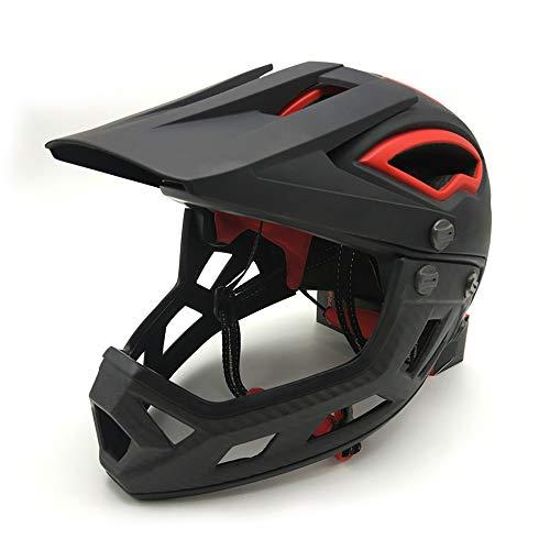 Mountainbike Integralhelm Downhillhelm Rennhelm Motorrad Offroadhelm Schutzbrillen, Ski Snowborading-Schutzbrillen (Farbe : Schwarz, Größe : Einheitsgröße)