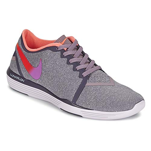 Nike Damen WMNS LUNAR Sculpt Hallenschuhe, Grau Smoke/Purple Dynasty/Bright Mango/Hyper Violet, 40.5 - Sculpt Lunar Nike