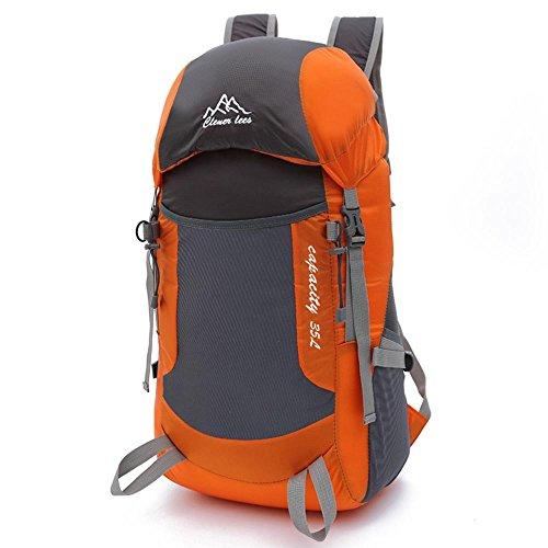 ruifu Rucksack Leicht Wasserdicht verstaubarer Outdoor Wandern Nylon Tasche für Frau & Mann Orange