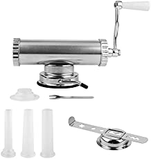 Master Feng China, Red Coated: 2 in one Hand Operated Sausage Meat Stuffer With Suction Base Homemade Cookie Press Mold and Sausage Filling Maker