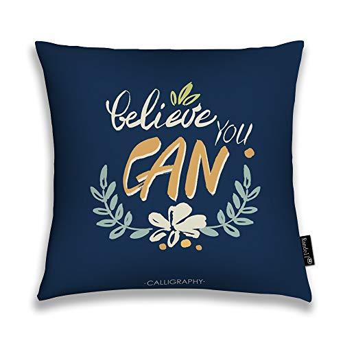 hrow Pillow Case Cool Dude Teen Wear Retro Emblem Cushion Cover Square 18 X 18 Inches ()