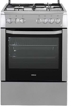 Beko CSS63110DS Autonome Combi hob A Argent four et cuisinière - Fours et cuisinières (Cuisinière, Argent, Rotatif, Combi, acier émaillé, Small)
