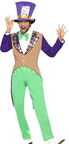 erdbeerloft–Messieurs Mad Hatter Fantasy Carnaval Costume, M–L, multicolore