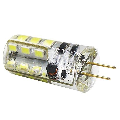 LED Perlen-Lampen G4 24 SMD 2835, 240 lm, 3 Walt entspricht 30 W Glühlampe oder Halogen Lampen, LED Energiesparleuchte, kaltweiß 6500 K AC12V /AC220V (1 Stück, AC 12 Volt) - 5