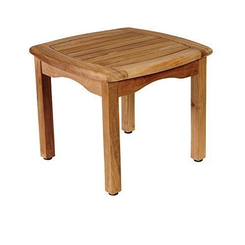 Amazonia Papaya Table d'appoint carrée en Teck