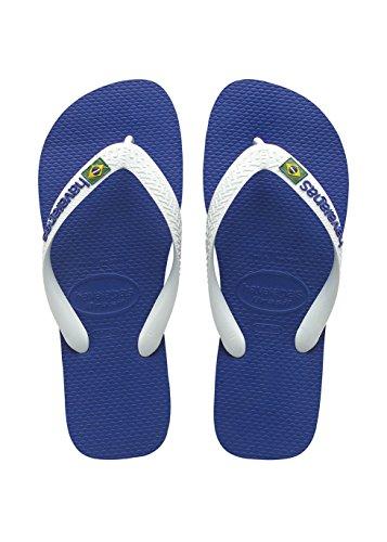 Havaianas Kinder Flip Flops Brasil Logo Grösse 31/32 Marine Blau Zehentrenner für Kinder
