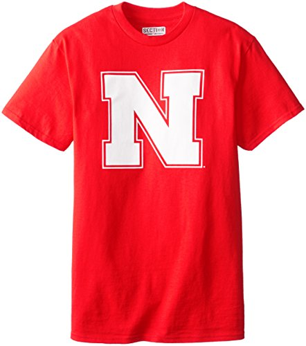 VF LSG NCAA Nebraska University Herren 's 5Z4College Short Sleeve Basic Tee, herren, rot, Small (University Nebraska)