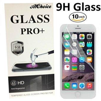 A1Choice Displayschutzfolie für iPhone 5S/5/5C, hochwertiges gehärtetes Glas, 9H Härte, 2.5D Gebogene Kante, blasenfrei, Kratzfest, Fingerabdrücke und Ölfleckenbeschichtung, 10 Stück