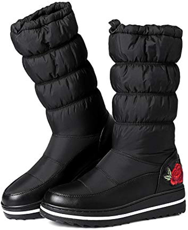PINGXIANNV Snow stivali per Mantenere in Caldo Caldo Caldo Inverno Giù Stivali per Donne Piattaforma Ricamo Scarpe Moda Scarpe... | tender  68b7bc