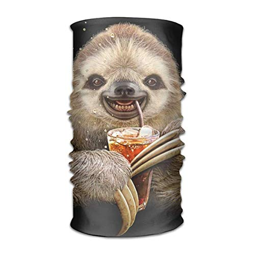 Bikofhd Cute Sloth Drink Cola Headwear Bandanas Seamless Headscarf Outdoor Sport Headdress Running Riding Skiing Hiking Headbands Outdoor4 (Kopfhörer Steeler)