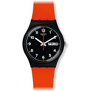 Swatch Reloj Analógico para Unisex de Cuarzo con Correa en Silicona GB754