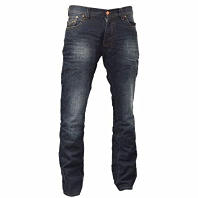 Mens Jeans Firetrap Deadly Original Straight Slim Cotton Denim Pants Trousers