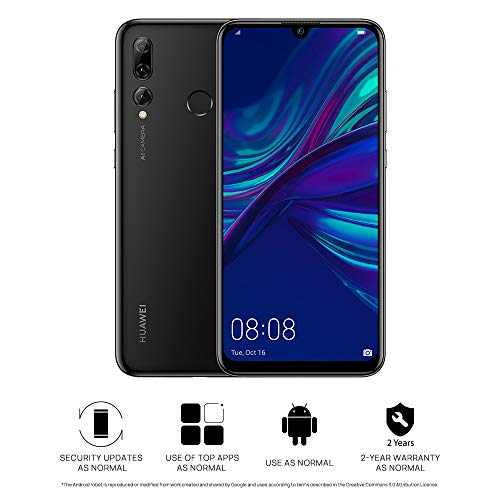 HUAWEI P Smart+ 2019 64 GB 6.21 inch FHD+ Dewdrop FullView Smartphone with Ultra-Wide Triple Camera, Android Sim-Free Mobile Phone, 3400 mAh Large Battery, UK Version, Midnight Black Best Price and Cheapest