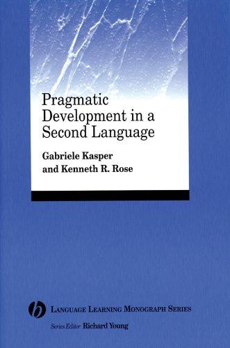 Pragmatic Development 2nd Language (Language Learning Monograph)