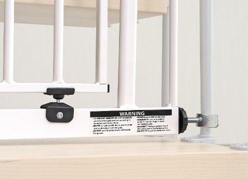Impag® Treppenschutzgitter 73 – 142 cm für einseitiges Geländer 2 Y-Adapter zum Klemmen ohne Bohren Swing + 10 - 4