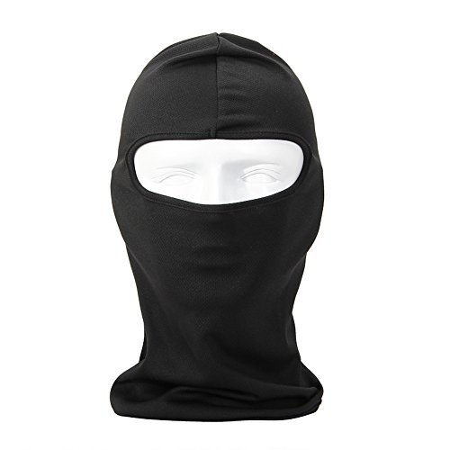 Price comparison product image NewNow Candy Color Ultra Thin Ski Face Mask - Great Under A Bike / Football Helmet -Balaclava-Black