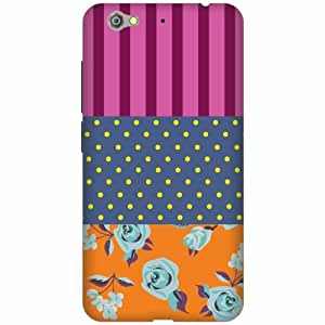 Printland Printed Hard Plastic Back Cover for Gionee S6 -Multicolor