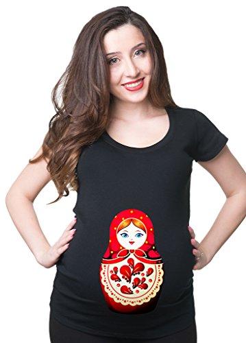 69eadd903 Silk Road Tees La muñeca Rusa Camiseta de Maternidad Top Matryoshka Embarazo  de la Mujer XX