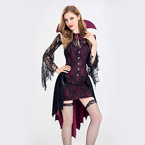 Edelehu Weibliche Ghost Halloween Cosplay Kostüm Tunika Hooded Robe Kapuzenmantel Cape Medieval Kapuzen-Party-Ausrüstung - Für Erwachsene Ghost Robe Kostüm