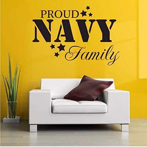Lvabc Stolz Familie Naval Poster Wandaufkleber Für Wohnzimmer Süße Dekoration Abnehmbare Wandtattoos Hintergrund Vinyl Kunst 62X42 Cm (Halloween Familie Stolz)