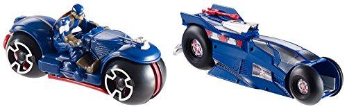 Hot Wheels Marvel Massive Moto Launcher Captain America Playset by Hot Wheels