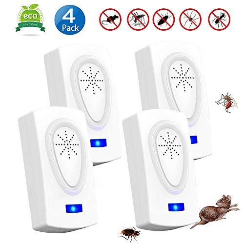 Repelente Ultrasónico Mosquitos 2019 Control de Plagas para Las Moscas, Cucarachas, Arañas,...