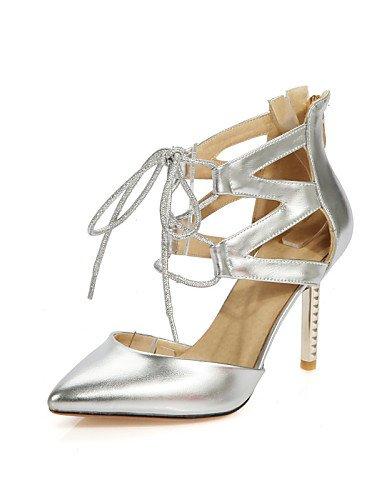 UWSZZ IL Sandali eleganti comfort Scarpe Donna-Scarpe col tacco-Formale / Serata e festa-Tacchi / A punta-A stiletto-Finta pelle-Rosa / Rosso / Argento / Dorato golden