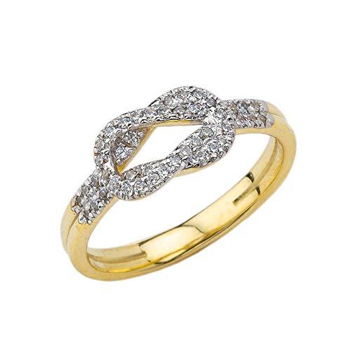 Kleine Schätze Damen Ring Zirkonia Hercules Love Knot Ring in 10 Karat Gelbgold