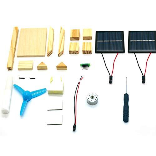 DIY Solar Fan Modell Montieren Bausätze Wissenschaftliches Experiment Kreative Entdeckung Lernspielzeug für Kinder