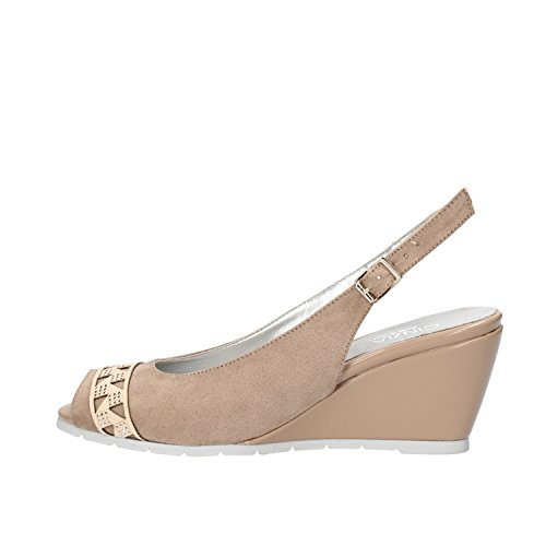 CINZIA SOFT sandali donna beige camoscio AG814 (35 EU)