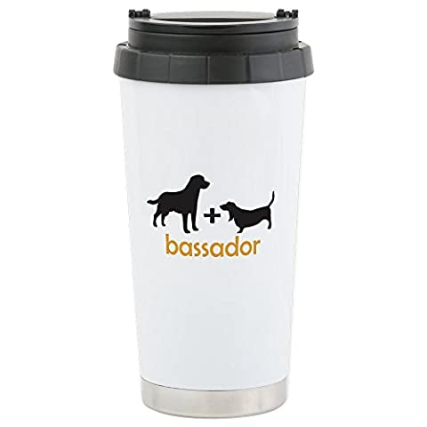 CafePress - Bassador - Stainless Steel Travel Mug, Insulated 16 oz. Coffee & Tea Tumbler