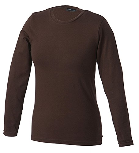 James & Nicholson Damen Langarm T-Shirt Tangy, brown, M, JN054 br (Erwachsenen James T-shirt)