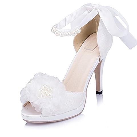 Kevin Fashion , Chaussures de mariage à la mode femme - beige - Beige - marfil, 40 UE EU