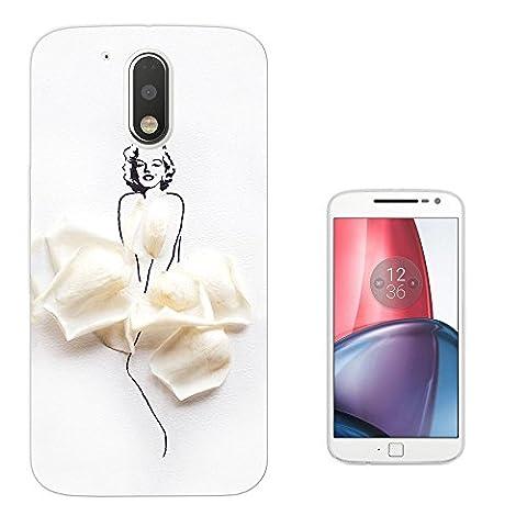 003712 - Rose Petals Woman Design Motorola Moto G4 Fashion Trend Silikon Hülle Schutzhülle Schutzcase Gel Silicone Hülle