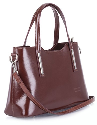 Big Handbag Shop - Borsa a tracolla donna Green - Brown Trim