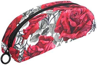 Vintage Fleur Rouge Rouge Rouge araignée Trousse Pochette Sac Fermeture Éclair Petit sac Maquillage articles de papeterie pour enfants Fille ado garçon l'école B07HRLJWGN   Beau  1c881a